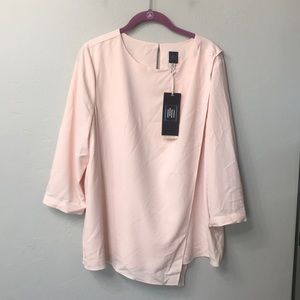 The limited lux collection pink drape top. XL. NWT
